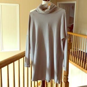 Lulus Long Gray Turtleneck Tunic Dress / Top
